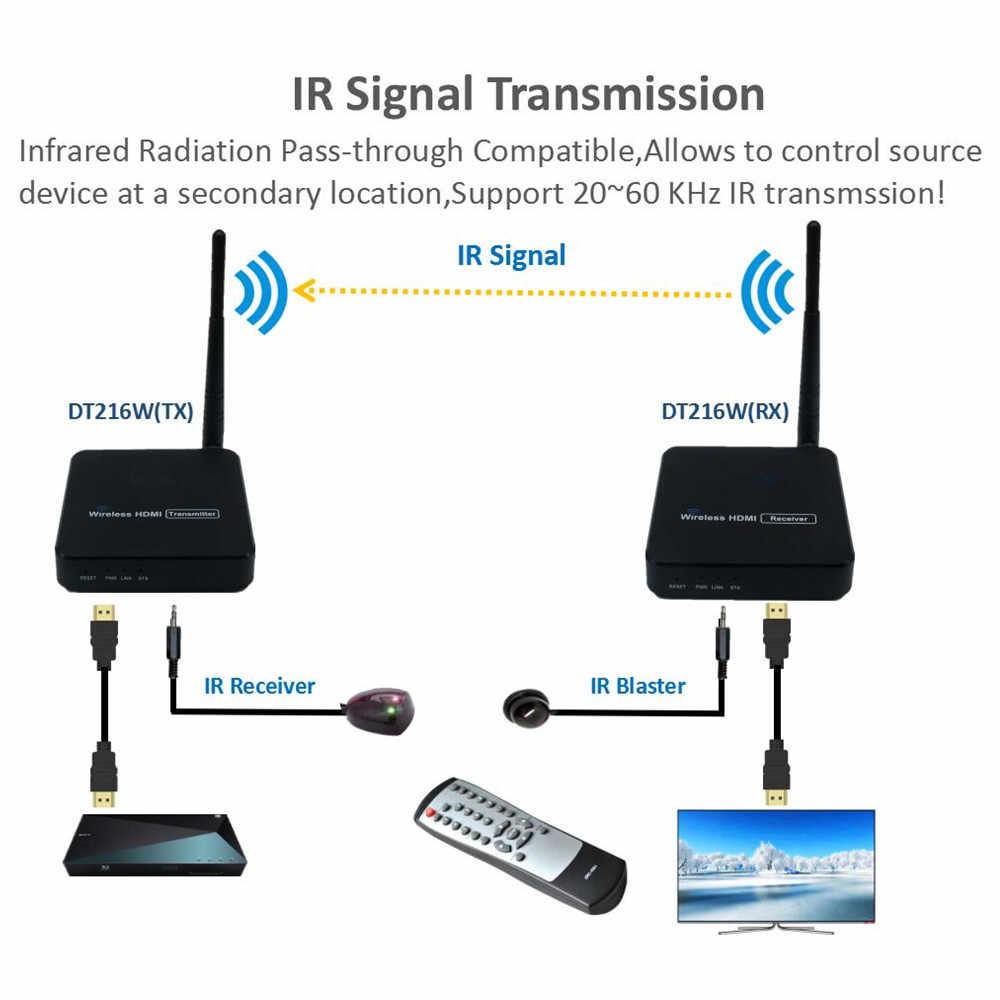 330ft bezprzewodowa transmisja wideo HDMI 1.3 bezprzewodowy nadajnik HDMI wzmacniacz sygnału wi-fi 100m z 20 ~ 60 KHz IR (nadajnik + odbiornik)