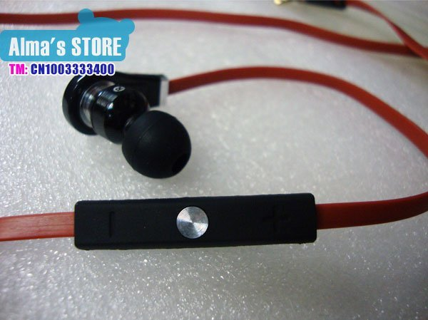free shipping mobile phone  in ear earphone with control talk promotion A