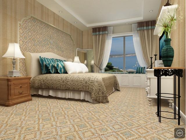 600*600mm fabbrica diretta imitazione tappeto camera da letto