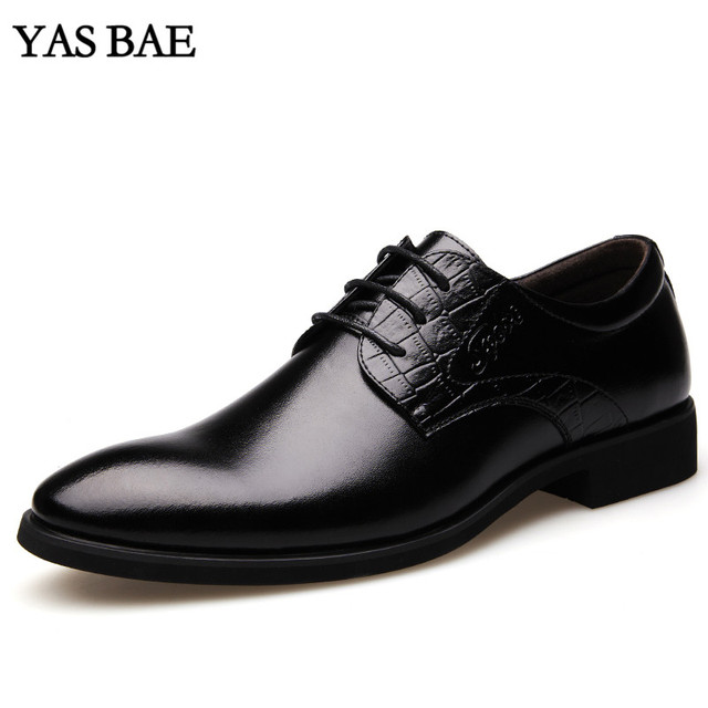Black And White Leather Shoe Men