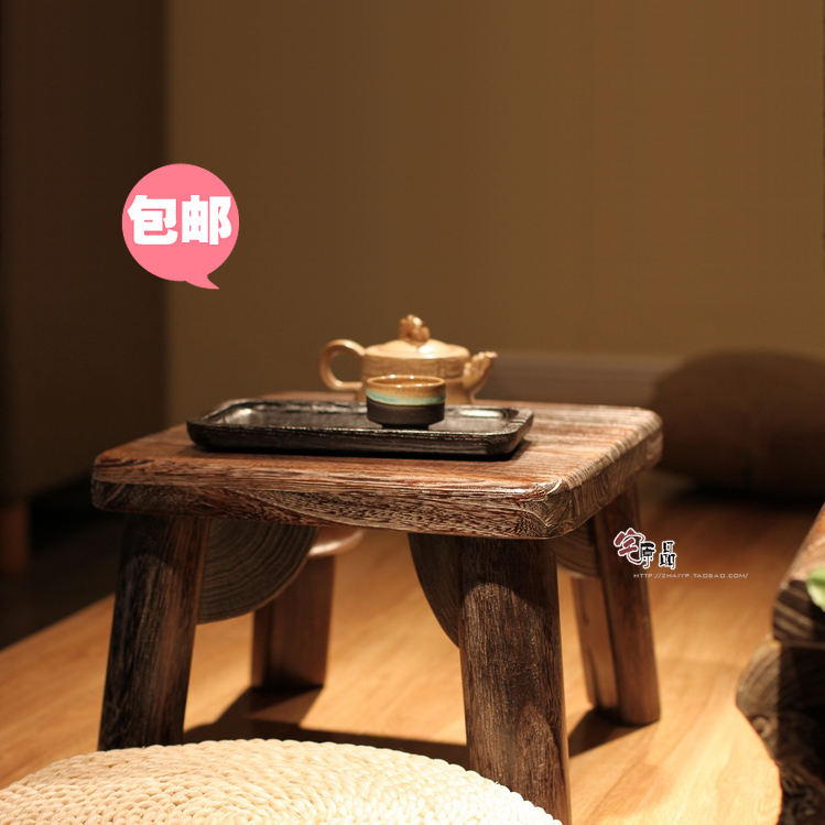 Japanese-style wood burning Paulownia kang kang table tatami coffee table a few windows and a small coffee table square table - jia kang nong