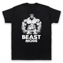 BEAST MODE BODYBUILDING SLOGAN GYM WORKOUT MUSCLE MENS WOMENS KIDS T-SHIRT Man Fashion Round Collar T Shirt Top Tee