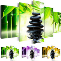 No Frame High Quality Bamboo Zen Stone Painting On Canvas Wall Art For Living Room Decor
