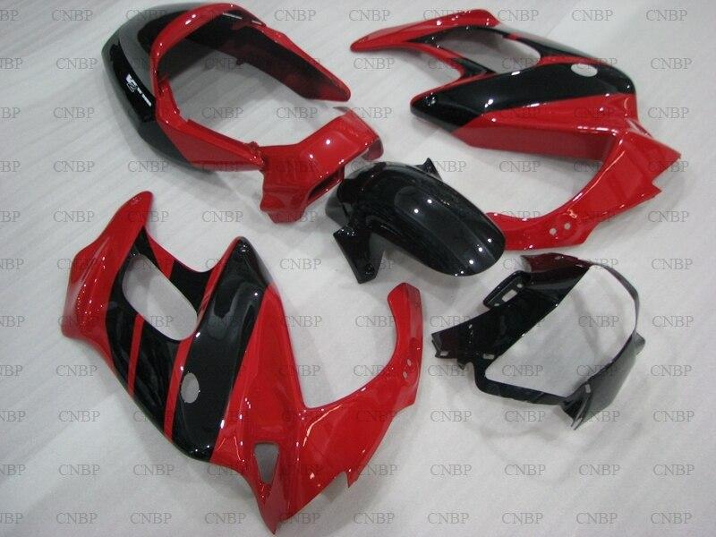 Para Honda VTR1000F 99 00 carenado Kits de VTR1000F 1995-2005 Rojo Negro carenado VTR 1000F 95 96 de la motocicleta carenado