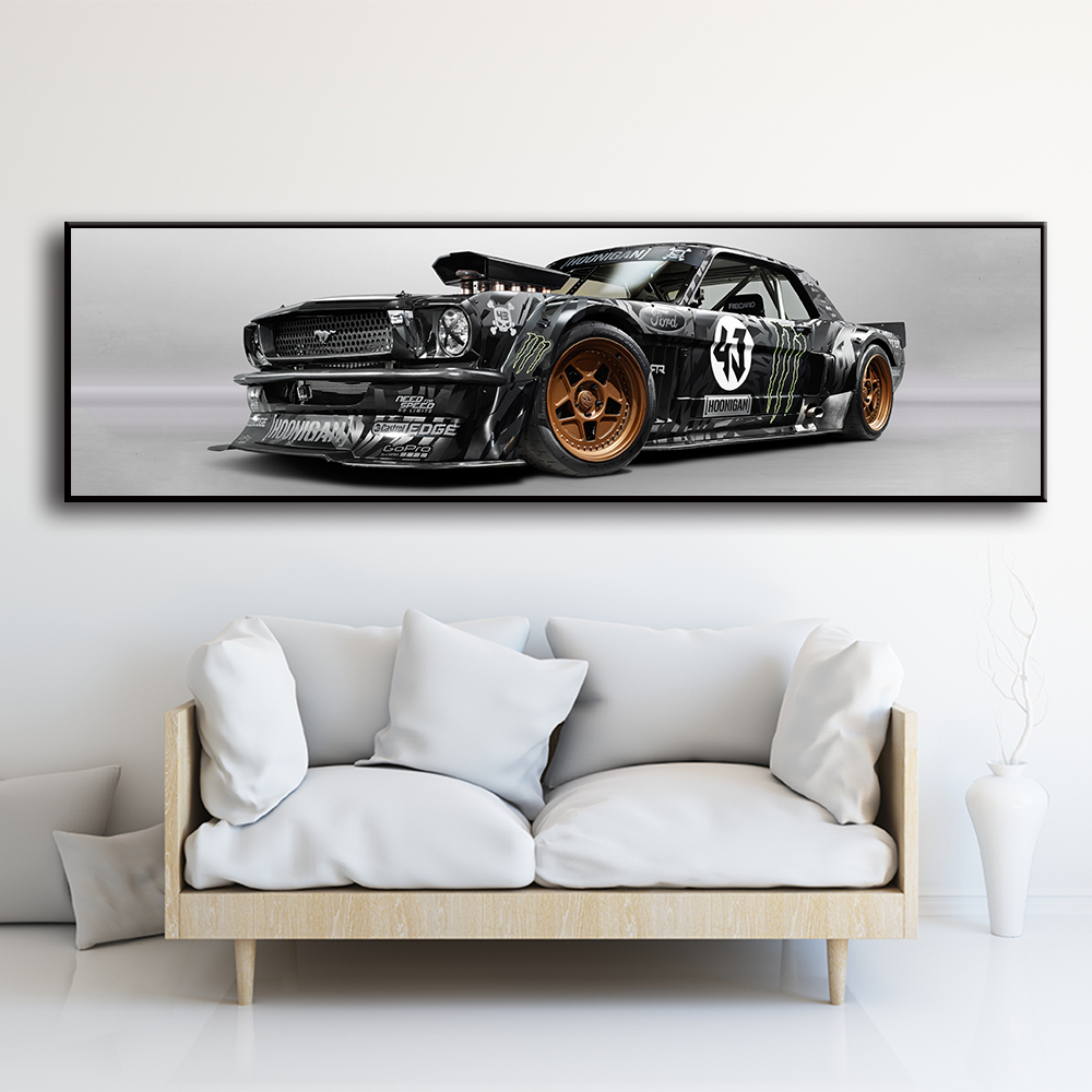 Wall Art Pictures For Living Room Bedside Home Decor Posters Ford Mustang Rtr Car Sports Car Painting Canvas HD Prints No Frame