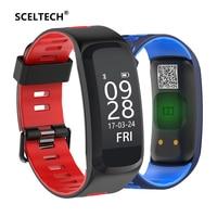 SCELTECH F4 Smart Fitness Bracelet IP68 Waterproof Blood Pressure Oxygen Heart Rate Monitor Smartband Wristband For