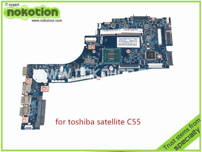 NOKOTION new ZBWAA LA-B303P Rev 1.0 K000891450 For toshiba satellite C55-B5202 C55 Intel Celeron N2840 SR1YJ DDR3 nokotion sps v000198120 for toshiba satellite a500 a505 motherboard intel gm45 ddr2 6050a2323101 mb a01