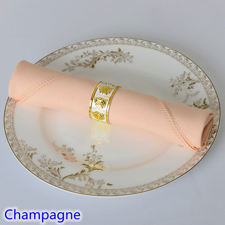 Baby pink colour Table napkin plain polyester napkin for wedding hotel and restaurant table decoration wrinkle stain resistant serveware