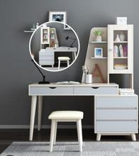 Simple modern dressing table Nordic computer desk bookcase bookcase makeup table combination dresser. desktop home modern simple computer desk