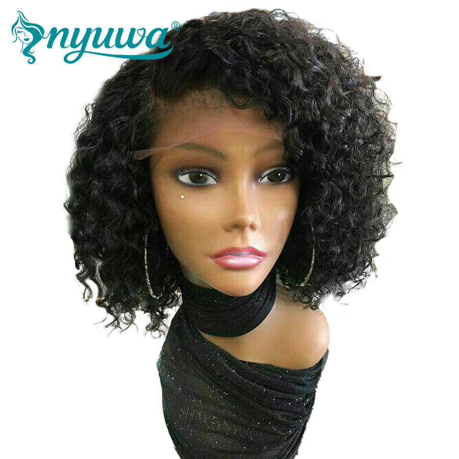 Aliexpress.com : Buy Nyuwa Full Lace Human Hair Wigs For Woman Natural Black Bleached Knots Pre ...