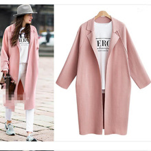 new Fashion 2019 Fall /Autumn Casual  Simple Classic Long Trench coat Chic Female windbreaker women long