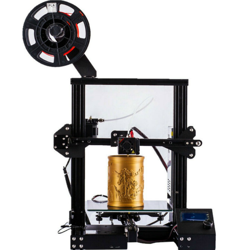 Zrprinting el más nuevo A 13 Kit de bricolaje 3D impresora de gran tamaño I3 mini impresora 3D continuación Impresión de potencia Creality 3D - 4