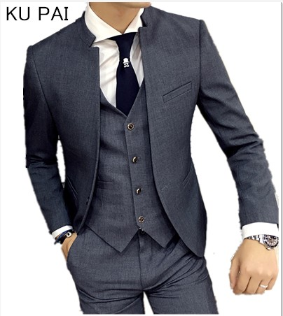 KU PAI wedding dress suit jacket men's casual male