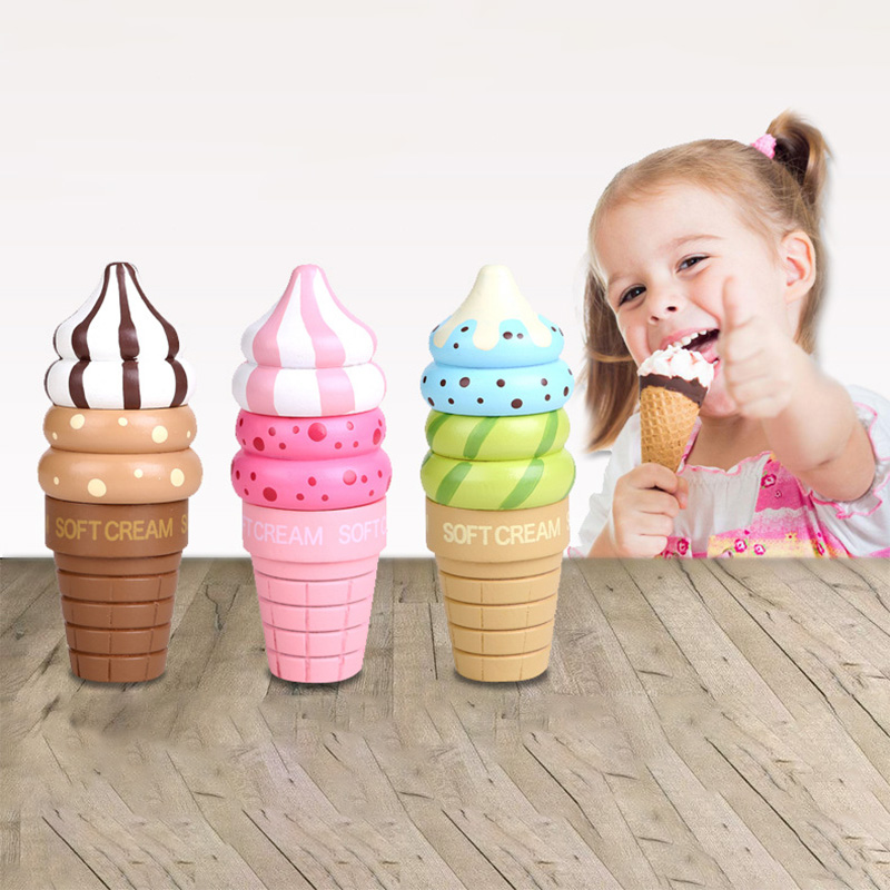 1 Stks Speelhuis Speelgoed Kinderen Keuken Speelgoed Aardbei Ijs Magnetische Leuke Simulatie Speelgoed Kinderen Xmas Gift Voor Meisjes Superieure Prestatie