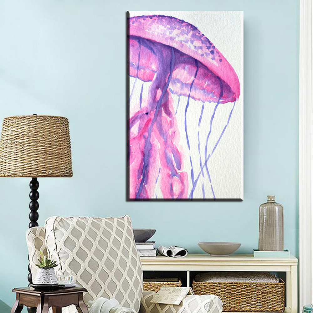 Xh2718 aquarelle impressions sur toile art belle champignon toile photos pour décoration de la maison toile