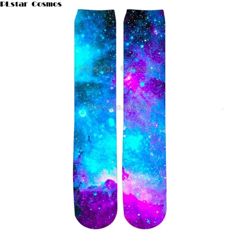 PLstar Cosmos 2019 New Fashion Mens 3d Socks Galaxy Space Colorful Nebula Printed Men/Women Casual Straight Socks