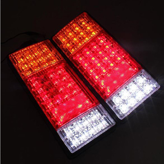 free shipping 2PCS Trailer Tail Light car styling Waterproof Car Rear Lamp Truck Boat Trailer Plastic Taillight 44 LED new arrival 5x trumpet musical chrome air horn compose silver compressor car boat truck 125db 12v free shipping free shipping