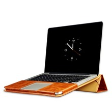OATSBASF Leather Case Stand PU Leather 360-Degree All-Inclusive Designed Protective Radiating for MacBook Pro Retina 13 inch