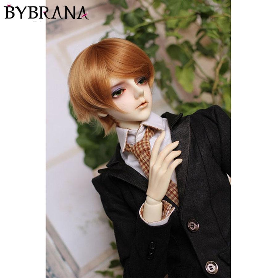 Bybrana 1/3 1/4 1/6 1/8 BJD SD Wigs Handsome Multiple Colour Bangs High Temperature Fiber Hair For Dolls