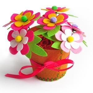 Image 2 - Sáng Tạo Vải Handmade Hoa Giỏ Đựng Đồ Chơi Trẻ Em Tự Làm Thủ Công Chất Liệu Bộ Dụng Cụ Sáng Tạo Mẫu Giáo Giáo Dục Trẻ Em Bé Gái