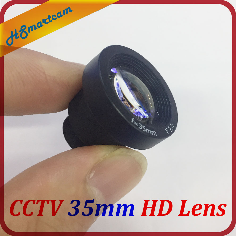 1/2 Inch 35mm CCTV MTV Lens M12 Mount F2.0 For Security Video Cameras AHD TVI CVI IPC HD 35mm CCTV MTV Board 650nm IR Cut Filter