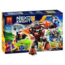263 pcs BELA Nexoe Knights Nfernox Captures The Queen Model Building Kits Aaron Minifigures   Blocks Bricks Compatible WithLEGO