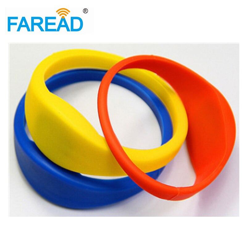Free Shipping X100pcs  13.56MHz Ntag203  RFID Wristband  For  Sauna Bath Center, Supermarket