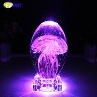 FUMAT Nachtlicht Tisch Lampe Bunte Quallen Nacht Licht Roman Kristall Handwerk LED Nacht Lampe USB Leucht Atmosphäre Licht