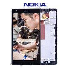 100% Original Para NOKIA Lumia 1520 LCD de Pantalla Táctil con El Marco Para NOKIA Lumia 1520 Pantalla Digitalizador Asamblea piezas de Repuesto