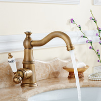 Kitchen Faucet European Style Bathroom Washbasin Faucet Hot And Cold Water Mixer Can Rotate Faucet Lt756