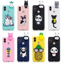3D Stress Relief Silicon Phone Case For Xiaomi Mi A2 Cute Soft Unicorn  panda bear TPU 3970bf2b78e5
