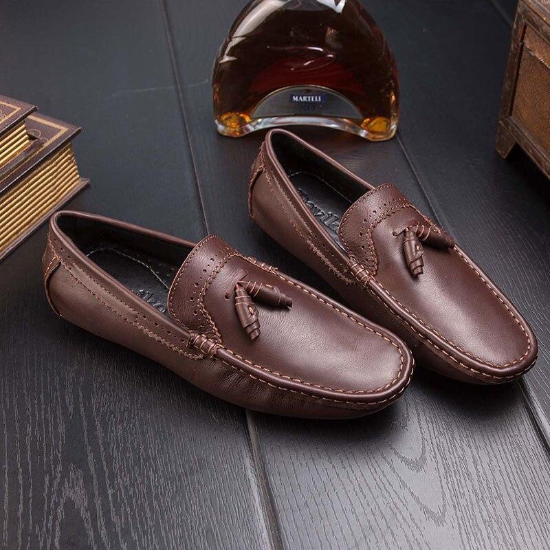 Primavera zapatos De Hombre Genuino zapatos Casuales Cuero Genuino Hombre zapatos 4e7822