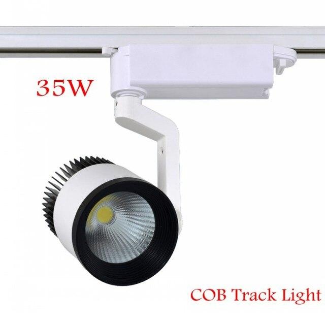 2015 New 35W COB Led Ttrack Light for Clothing Store Track Spot Lighting High Power Modern Spotlights Tracking Lamp AC85-265V