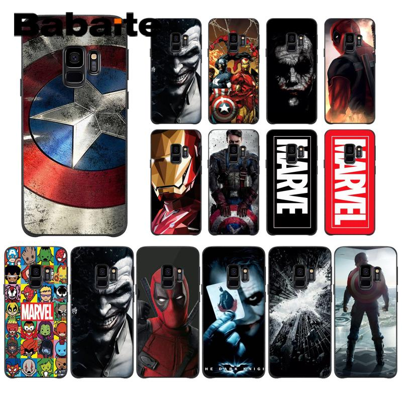 Babaite Marvel The Avengers Jorker Dead Pool DIY Printing Drawing Phone <font><b>Case</b></font> For <font><b>Samsung</b></font> Galaxy S4 S5 <font><b>S6</b></font> S7 S8 S9 S9 plus image