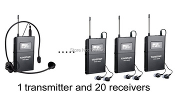 Tour Guiding 20-person Tour Group Guide/ Church Assistive Listening System Package,als System (1 Transmitter and 20 Receivers)