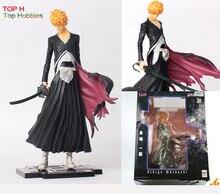 22CM Japana anime Bleach pvc Kurosaki Ichigo action figure tall toys For Bleach fans PVC Figure
