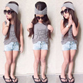 BCS221 2016 Девушки одежда наборы мода милый ребенок девушка одежда горячей продажу детские девушки одежда детская одежда девушка одежда набор