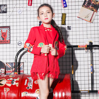 New Children's Costumes Girls Small Host Dress Chinese Style Suit Catwalk Children's Performance Clothing