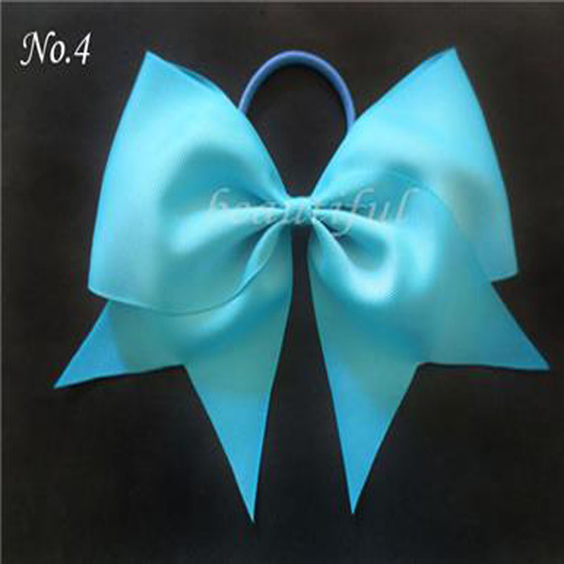 12 pcs Jumbo Hair Bows Colorful Boutique Hair 7 Cheer Leader Bow Elastic Value Pack ...