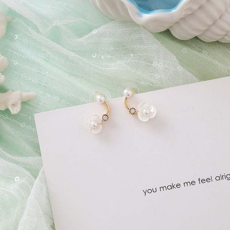 MENGJIQIAO New Korea Japan Elegant Shell Starfish Drop Earrings For Women Sweety Simulated Pearl Pendientes Girl Party Jewelry 5