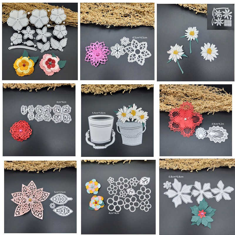 petals metal dies flowers Greeting Card Frame Door  For DIY Scrapbooking Card Album Photo Decoration Embossing Folder