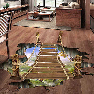 982cbb955f1 Detail Feedback Questions about 3D Wall Stickers Bridge Floor Wall Sticker  Removable Mural Decals Vinyl Art Living Room Decors on Aliexpress.com