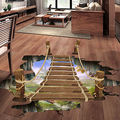 3D Wall Stickers Bridge Floor/Wall Sticker Removable Mural Decals Vinyl Art Living Room Decors