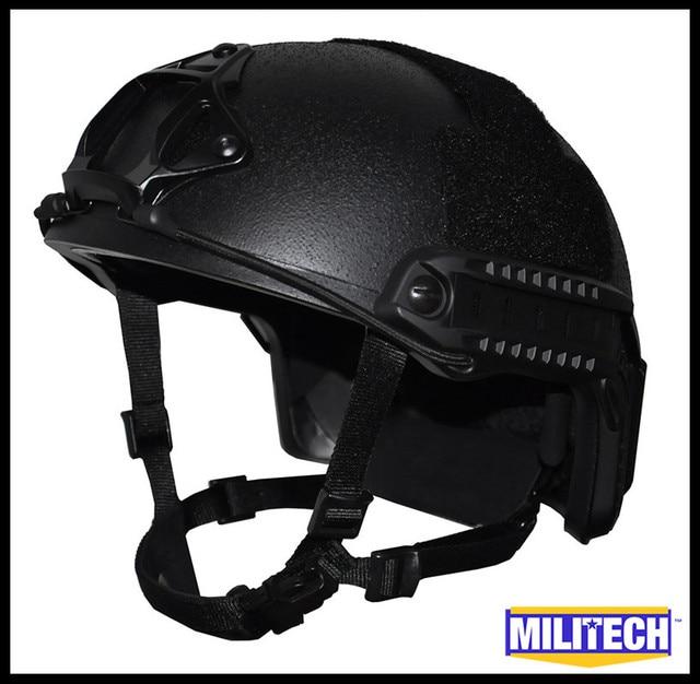 Militech Black BK Super High Cut Deluxe Maritime NIJ level IIIA FAST Aramid Bulletproof Bullet Proof Ballistic Helmet DEVGRU CAG