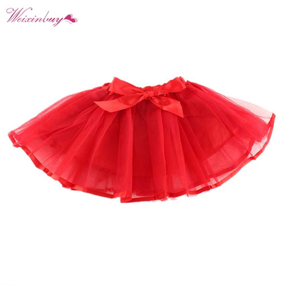 4f25b7fcb Fluffy Chiffon Pettiskirts Baby 6Colors tutu skirts girls Princess Dance Party  Tulle Skirt