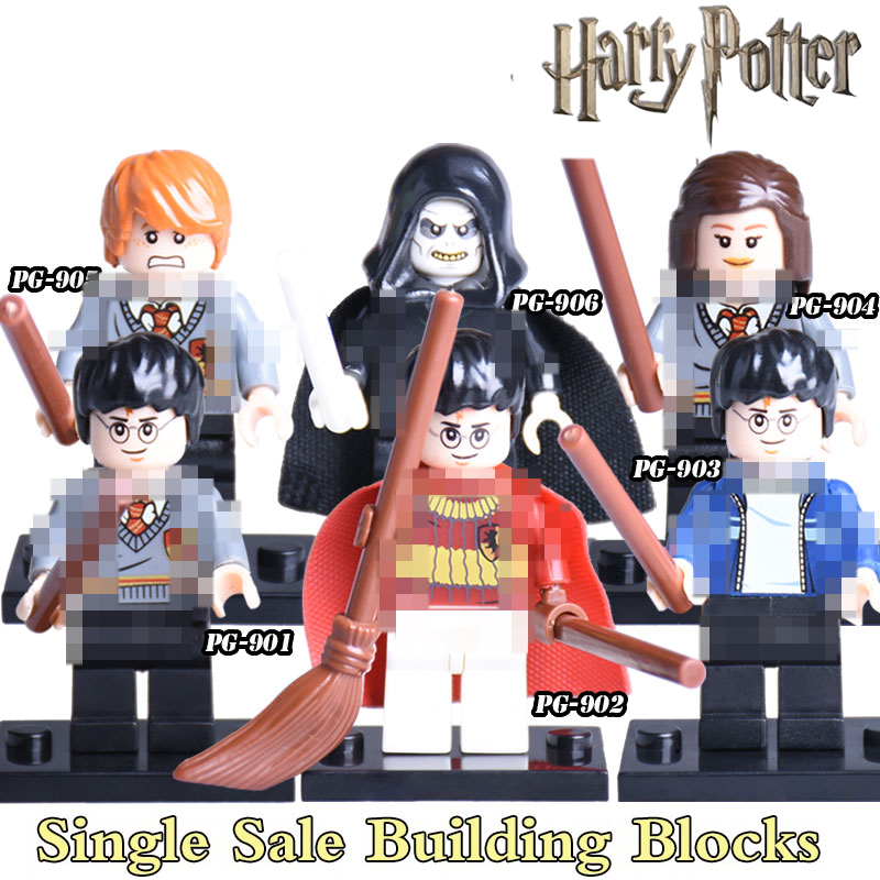 1PC Harry Potter Draco Malfoy Half-Blood Prince Ron Lord Voldemort diy figures Sets Bricks Building Blocks Kids Toys Hobbies harry potter professor dumbledore hermione ron fred george death eater assemble building blocks diy figures bricks kids toys