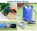 2015 eco Encerado 500D PVC dobrável saco de pressão do tanque de pressão da água do chuveiro portátil chuveiro acampamento ao ar livre frete grátis