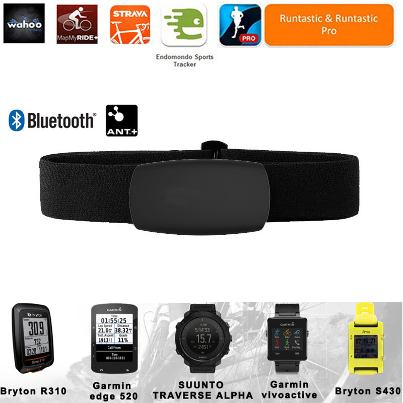 Heart Rate Monitor Chest Strap Belt Bluetooth 4.0 ANT Smart Sensor Outdoor Fitness Equipment Band For Wahoo Polar Garmin Watch