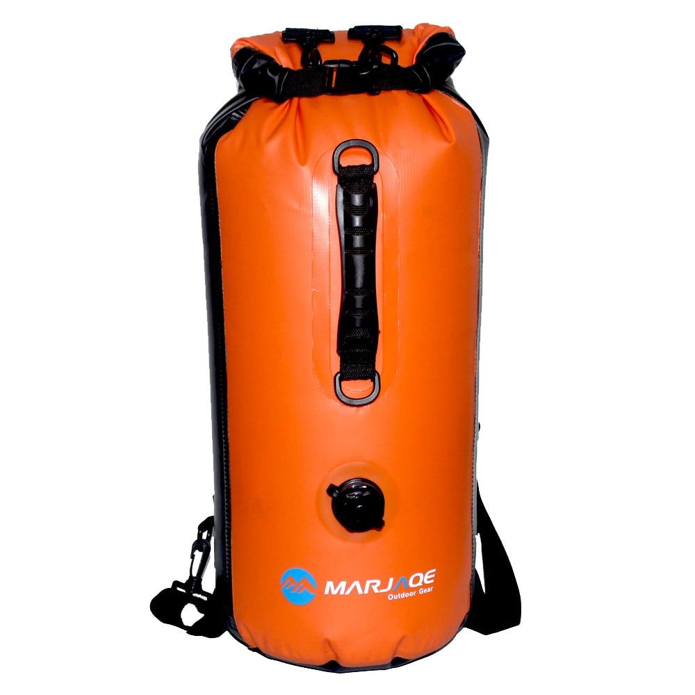 Sac étanche Double épaule 30L avec buse à gaz sac sec gonflable randonnée en plein air sac de natation sacs de rangement de voyage