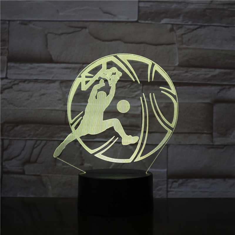 3D Lamp Slam Dunk Basketball Shape Decor LED Night Light Sports Table Decorative Lamp Child Kids Baby Kit Nightlight Dropshiping